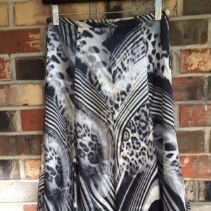 Animal Printed Silky Skirt