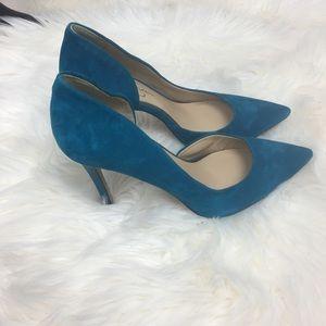Blue suede Jessica Simpson heels
