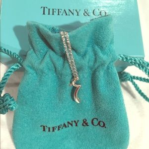"Tiffany Elsa Peretti Letter ""r"" Pendant+Necklace"