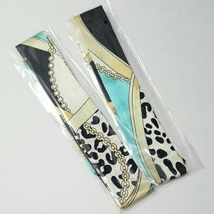 New! 2pc x Teal Turquoise Leopard Chain Twillys