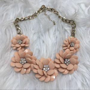 Peach Floral Necklace