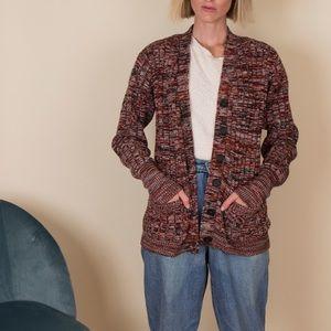 Vintage 70s space dye knit cardigan