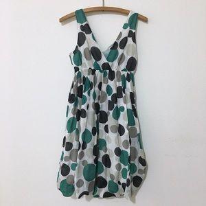 Anthropologie Hazel Silk Blend Polka Dot Dress