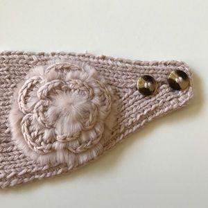 Cute Mauve Pink Crochet Earmuff Headband