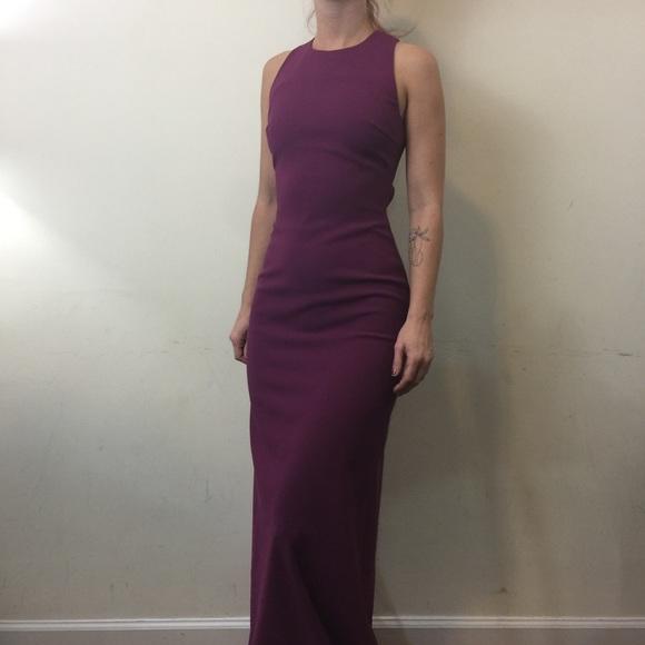 Elizabeth and James Dresses & Skirts - Elizabeth and James Freya Plum Maxi Cut Out Dress
