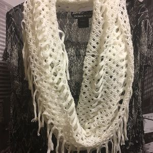 Knitted white wrap