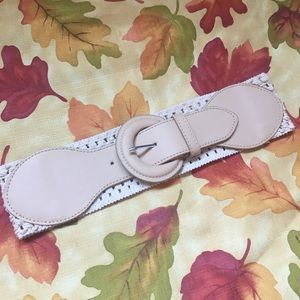 Cream Waist Belt