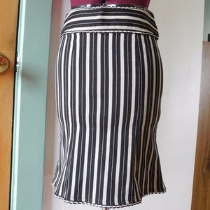 Mermaid Fit & Flare Pencil Flounce Skirt