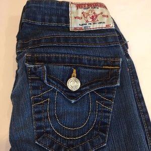 True Religion Becky Blue Demin Jeans  24 x 32