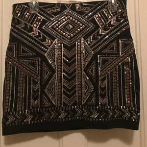 Express Sequins Pencil Skirt
