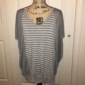 Gray Stripes With Mesh Sides