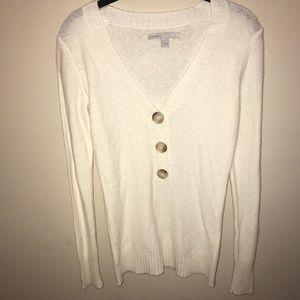 Quarter button up sweater