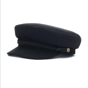 Black BRIXTON fiddler sailor cap hat