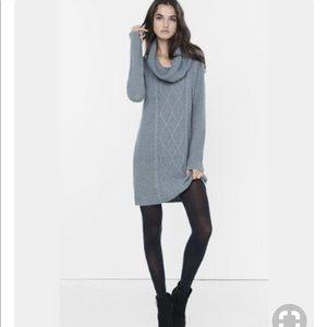 H&M Grey Cowl Neck Sweater Dress 🍁