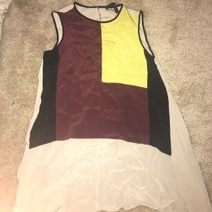 High low bcbg dressy top