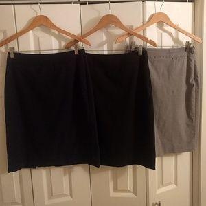 Three Banana Republic light wool skirts!
