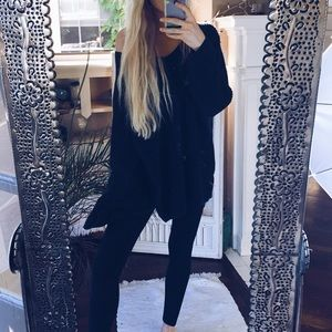 Sweaters - 90s Grunge Cozy Cable Knit Sweater [Black]