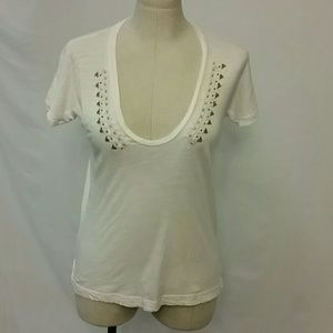 J. Crew light short sleeve decorative t-shirt XS