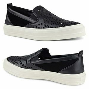 NWOB Nine West OLETTA Laser Cut Leather Sneakers