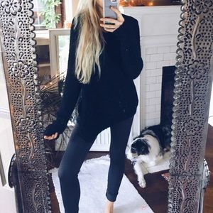Sweaters - Well Traveled Black Textured Sweater