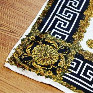 Vintage Versace Style Silk Scarf