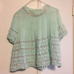 Baby Blue Wilfred Top - XS