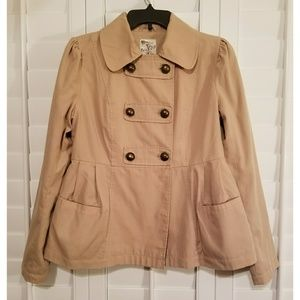 Double Button Short Trench Jacket