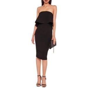 Missguided Nordstrom Strapless Popover Midi Dress