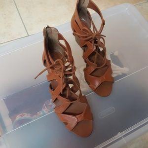 JESSICA SIMPSON Strappy Tie Sandal Heel Wedges