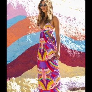 NEVER WORN Mara Hoffman Rainbow bird dress