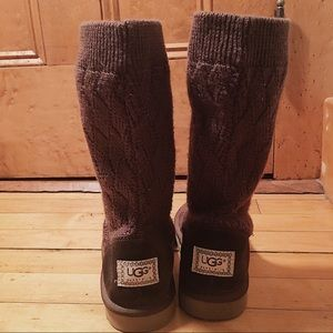 UGG Women's Chocolate Sweater Knit Boots