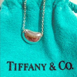 Tiffany Elsa Peretti Bean Necklace, 9mm