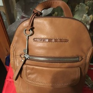 New Fossil Leather Backpack