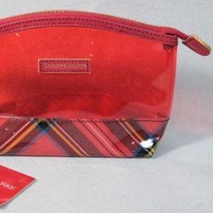 Dooney & Bourke Bags - Dooney & Bourke Small Cosmetic Bag, Red Plaid.