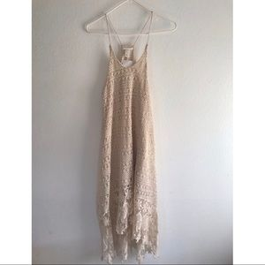 NWT H&M BEACHY BEIGE CASUAL LACE FLOWY DRESS