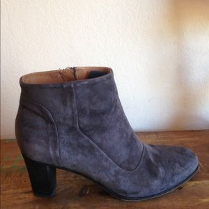 GREAT ALbERTO FERMANI cHARCOAL GRAY ANKLE BOOT 8.5