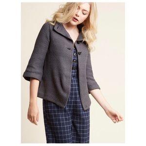 Corner Coffee Shop Cardigan Modcloth gray sweater