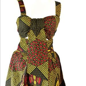 Cropped Top Maxi Skirt in African print US 8,10,12