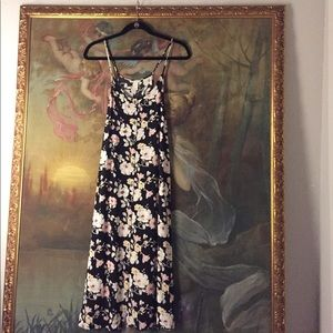Forever 21 floral button-down maxidress