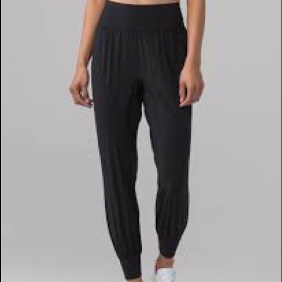 lululemon athletica Pants - Lululemon sun setter joggers black 6