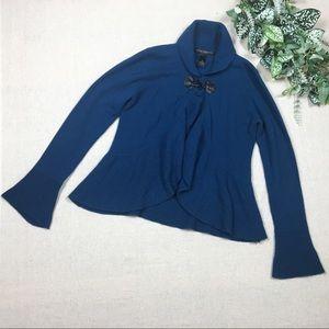 Elena Solano Medium Blue Cashmere Sweater