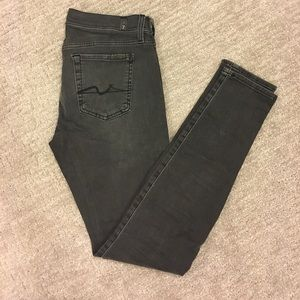 7 for all mankind grey denim jeans