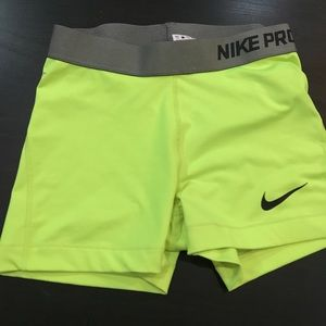 Nike dri fit running spandex shorts