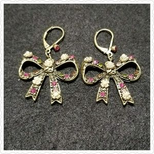 Brass Floral Bows