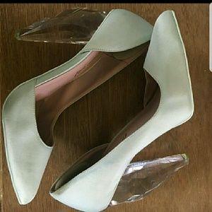 Mint Green Clear Heeled Christian Siriano heels