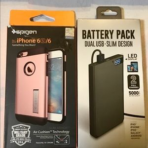 NWT IPhone Case & battery pack