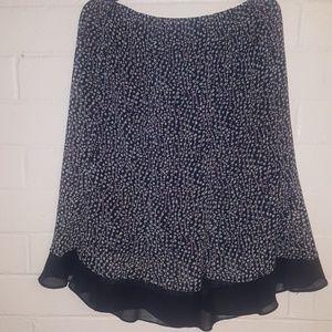 Vintage Crepe Midi Skirt!