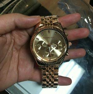 Golden rhinestone watch