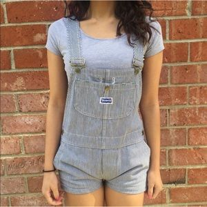Striped overalls XS