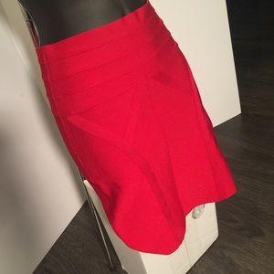 Bebe red skirt
